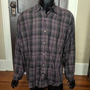 CP Company purple plaid shirt